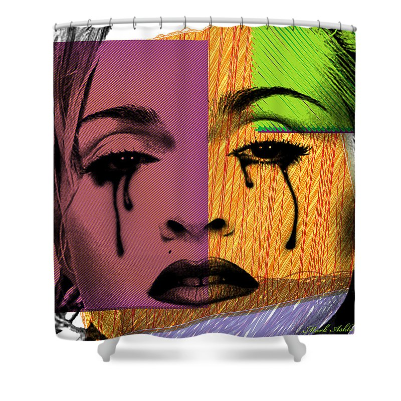 Madonna Shower Curtain featuring the digital art Madonna by Mark Ashkenazi