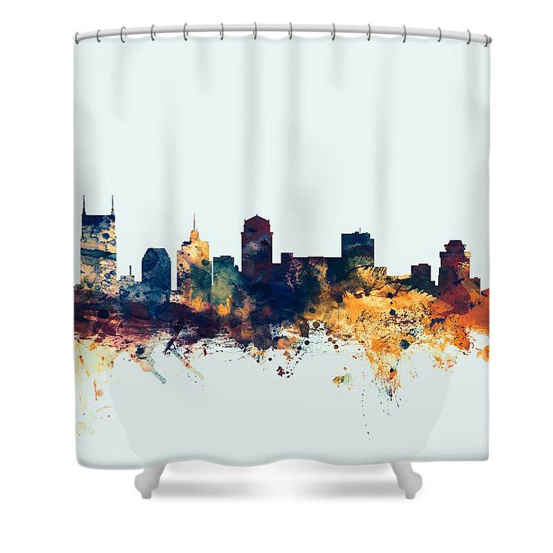 Nashville Skyline Shower Curtains