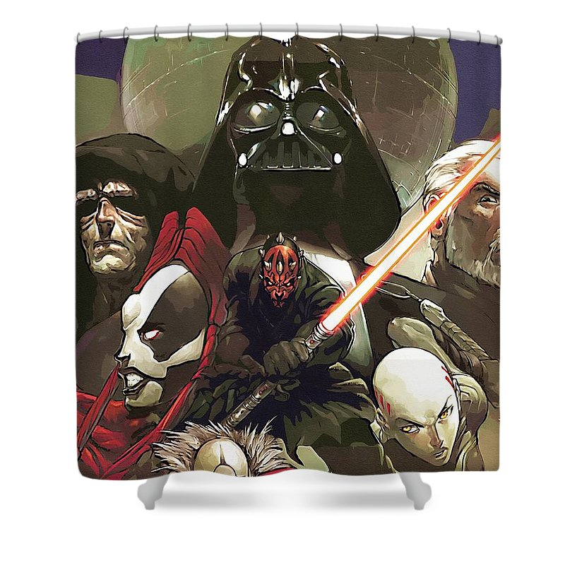 Star Wars Darth Vader Shower Curtain featuring the digital art Star Wars For Poster by Larry Jones