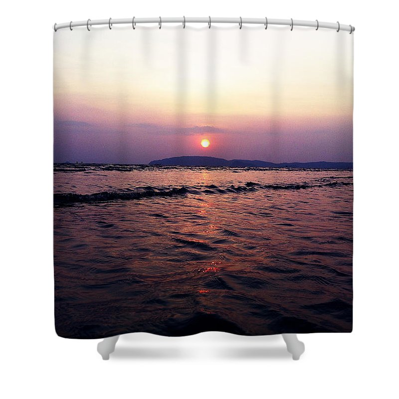 Sunset Shower Curtain featuring the photograph Sunset by Julita Pietrzyk
