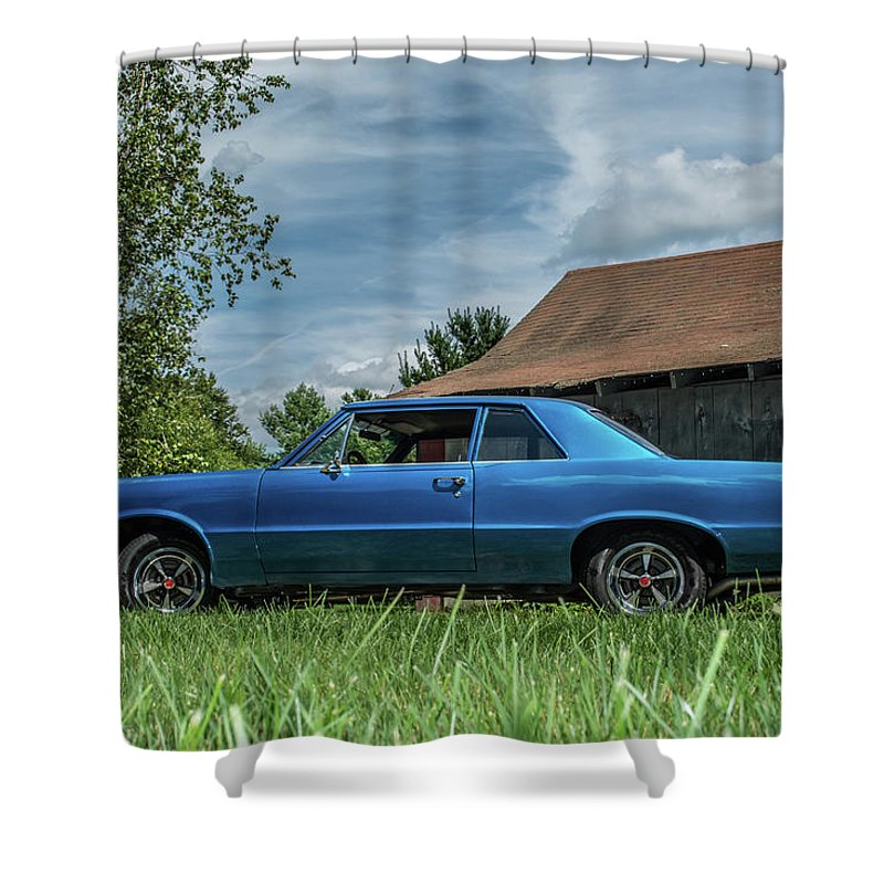 Lemans Shower Curtain featuring the photograph Classic Cars by Mickie Bettez