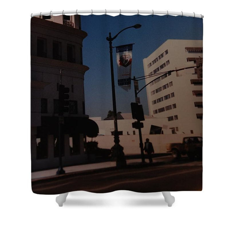Hollywood California Shower Curtain featuring the photograph 75th Hollywood by Rob Hans