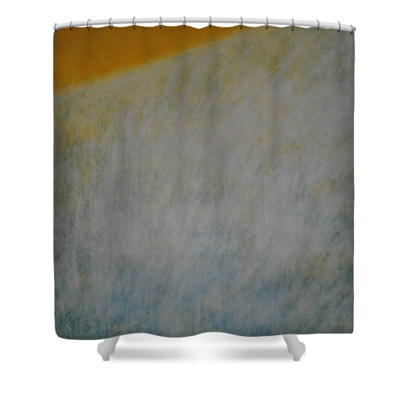 Contemporary Shower Curtain featuring the painting Calm Mind by Kyung Hee Hogg