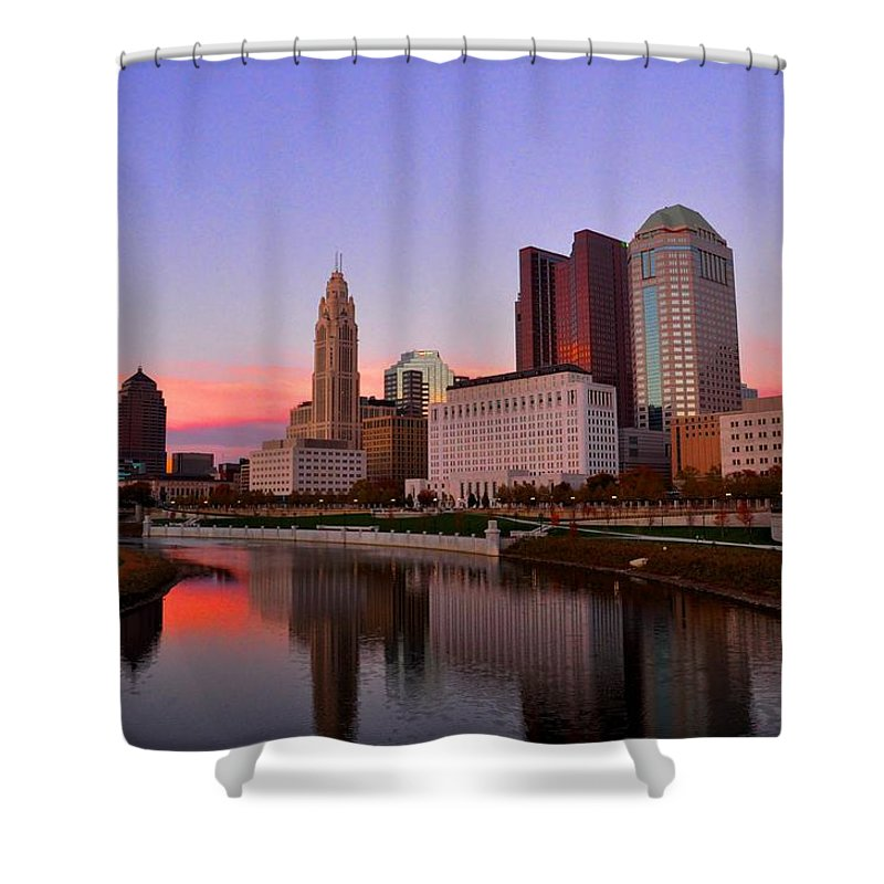 Columbus Shower Curtain featuring the photograph Columbus, Ohio by David Kelso