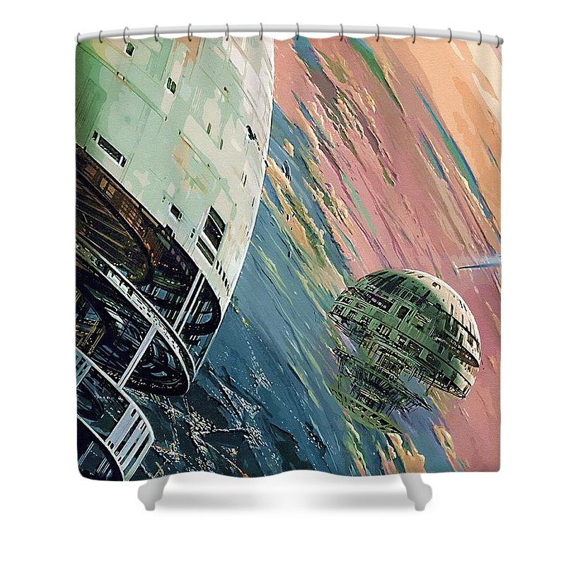 R2d2 Star Wars Shower Curtain featuring the digital art Episode 2 Star Wars Art by Larry Jones
