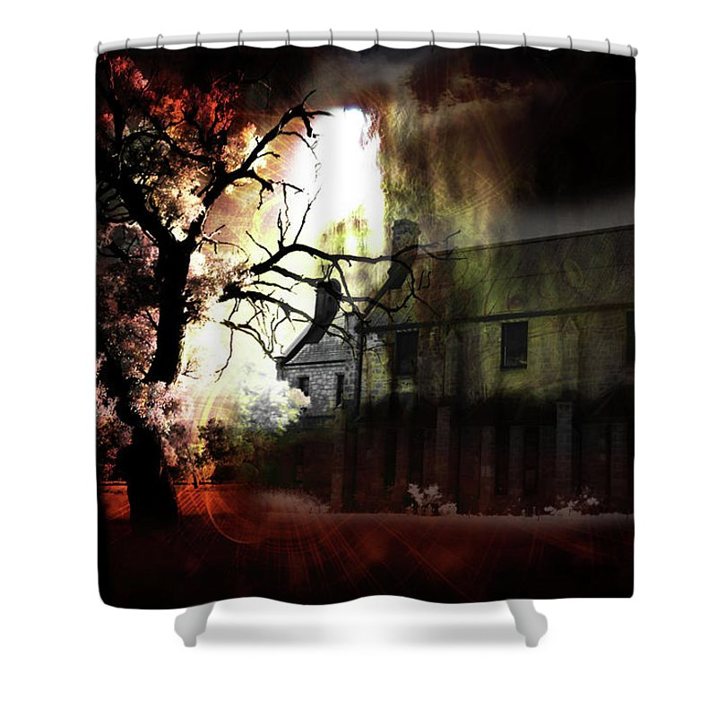 Ghost Shower Curtain featuring the digital art 8 Ghosts by Phill Petrovic