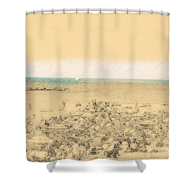 Tel Aviv Shower Curtain featuring the photograph Gordon Beach, Tel Aviv, Israel by Ilan Rosen