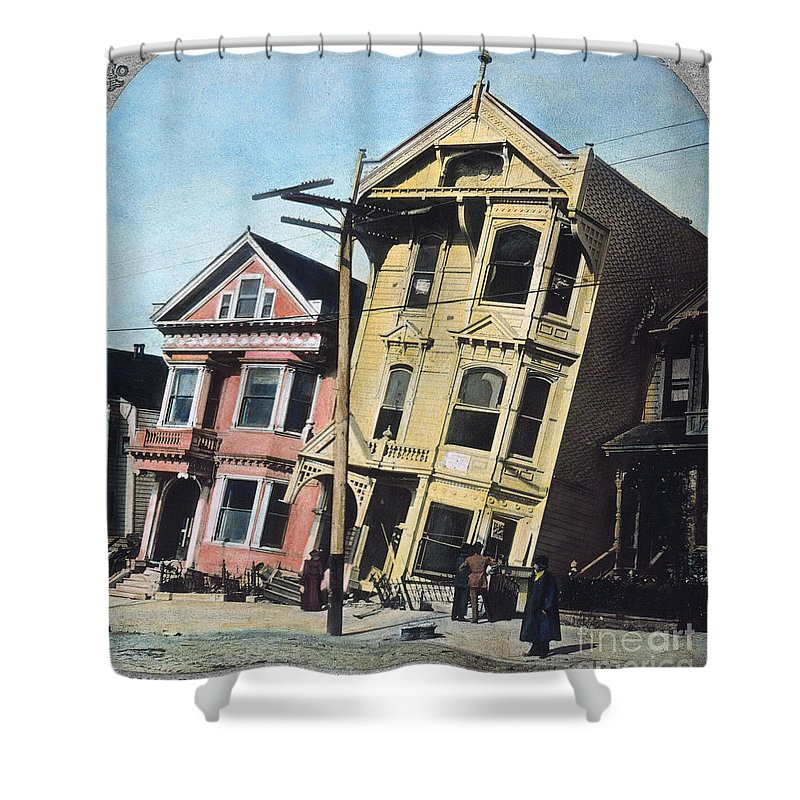 1906 Shower Curtain featuring the photograph San Francisco Earthquake by Granger