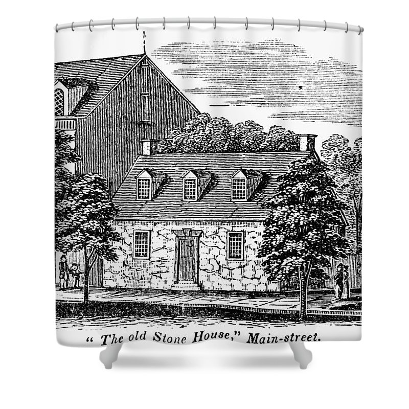 1856 Shower Curtain featuring the photograph Washington: Headquarters, by Granger