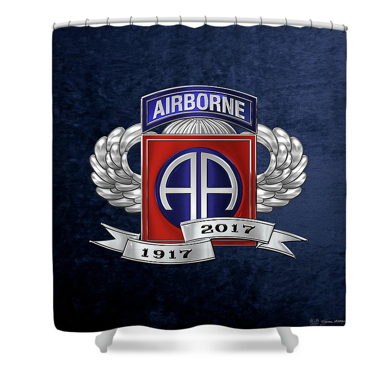 82nd Airborne Division 100th Anniversary Insignia Over Blue Velvet ...