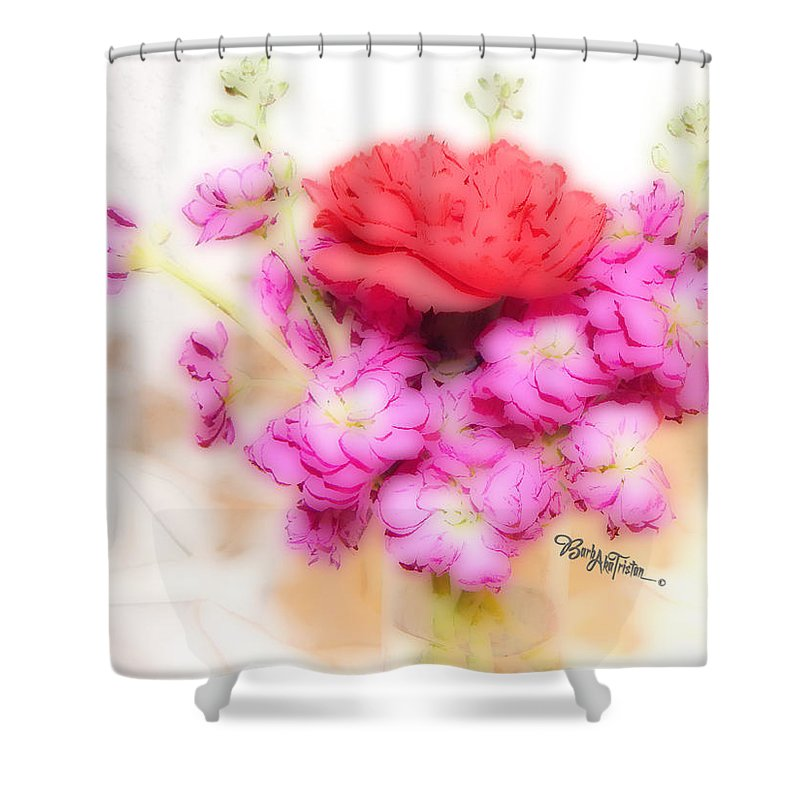 Art Shower Curtain featuring the photograph #8742 Soft Flowers by Barbara Tristan