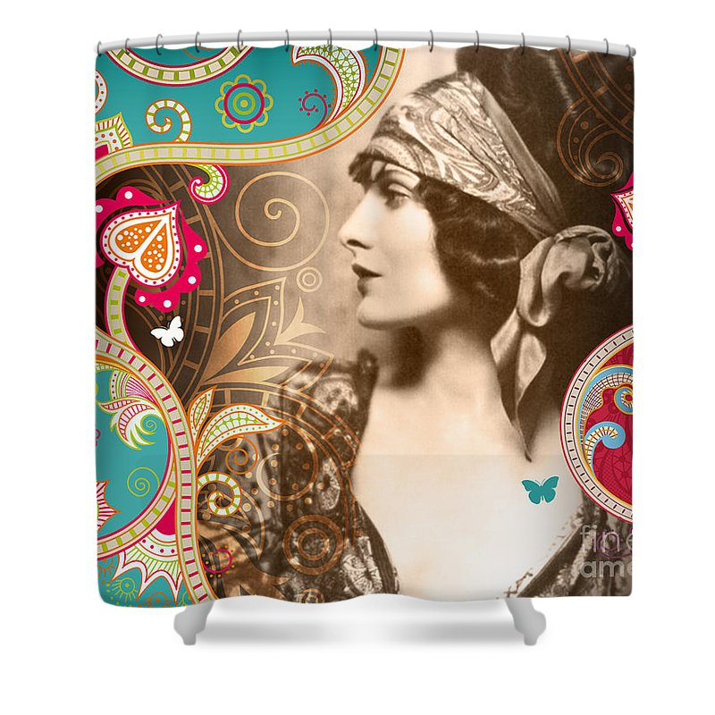 Nostalgic Seduction Shower Curtain featuring the photograph Goddess by Chris Andruskiewicz