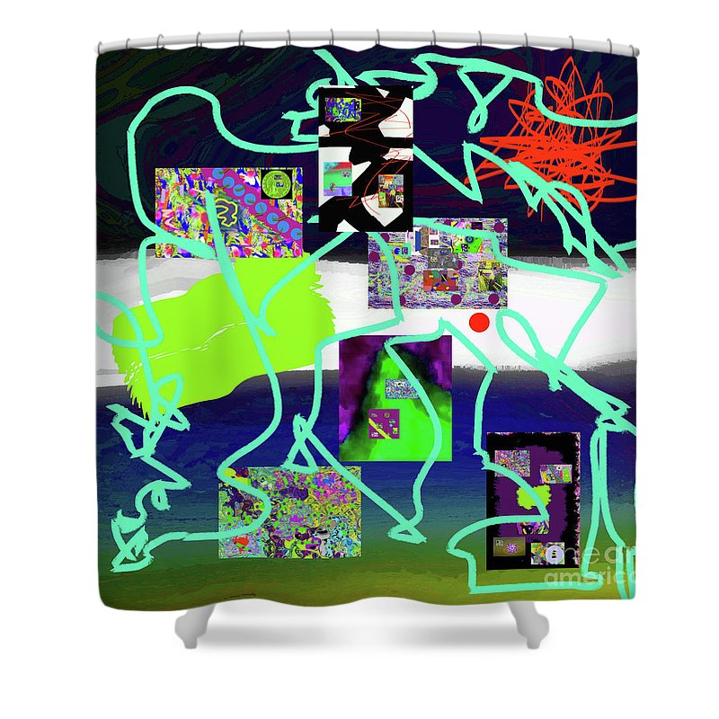 Walter Paul Bebirian Shower Curtain featuring the digital art 9-18-2015babcdefghijklmnopqrtuvwx by Walter Paul Bebirian