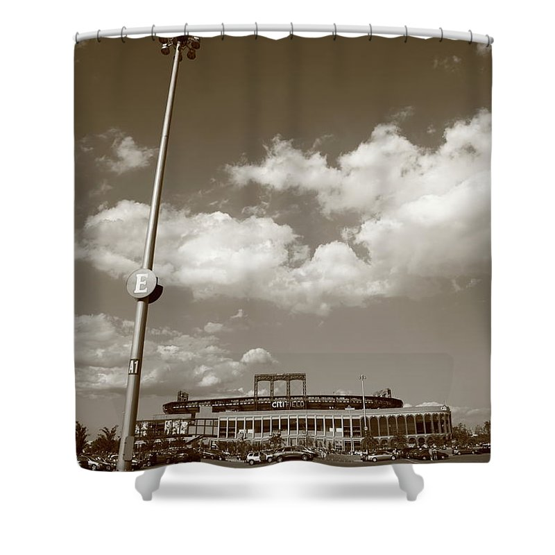 America Shower Curtain featuring the photograph Citi Field - New York Mets by Frank Romeo