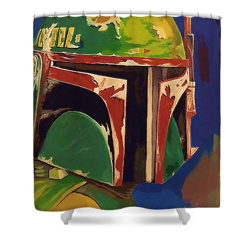 Star Wars Clone Trooper Shower Curtain featuring the digital art Collection Star Wars Poster by Larry Jones