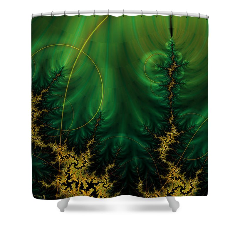 Fractal Shower Curtain featuring the digital art Fractal by Mery Moon