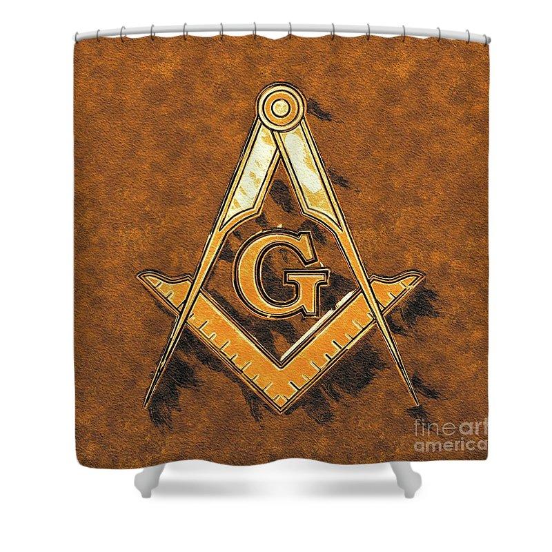 Lodge Shower Curtain featuring the painting Freemason, Mason, Masonic Symbolism by Pierre Blanchard