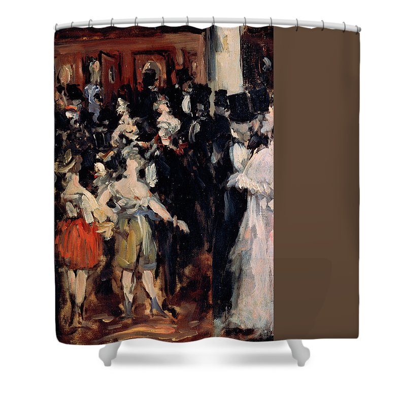 Europe Shower Curtain featuring the painting Masked Ball At The Opera by Edouard Manet