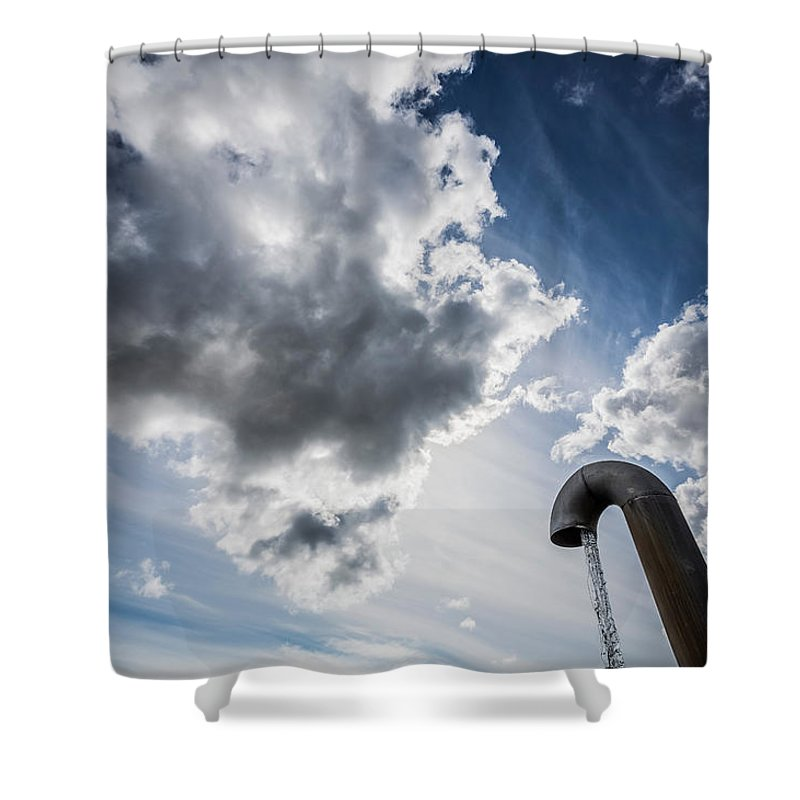 Photography Shower Curtain featuring the photograph Pipes At Nesjavellir Geothermal Power by Panoramic Images