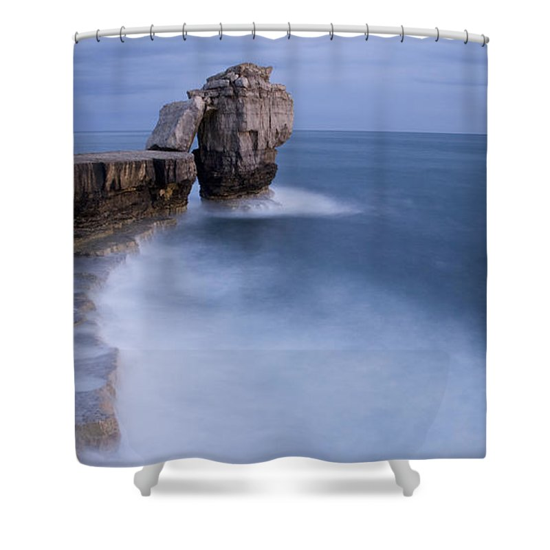 Portland Shower Curtain featuring the photograph Portland Bill Seascapes by Ian Middleton