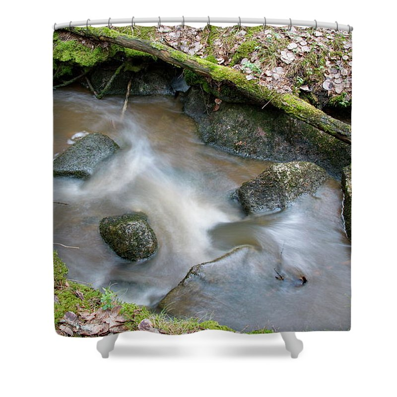 Forest Creek Shower Curtain featuring the photograph Rapids by Esko Lindell
