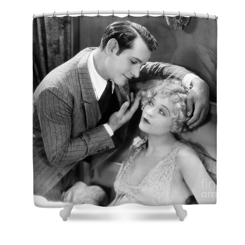 -couples- Shower Curtain featuring the photograph Silent Film Still: Couples by Granger
