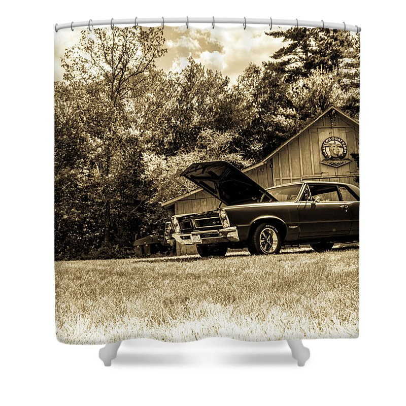 Classic Shower Curtain featuring the photograph Classic Cars by Mickie Bettez