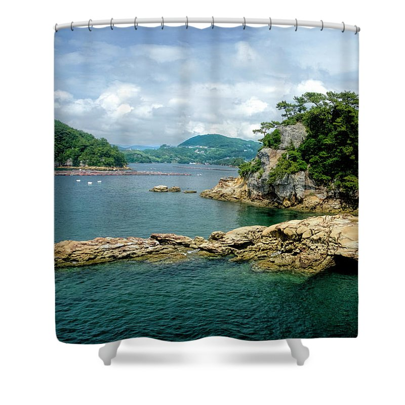 Japan Shower Curtain Featuring The Photograph 99 Islands Sasebo By Judi Saunders
