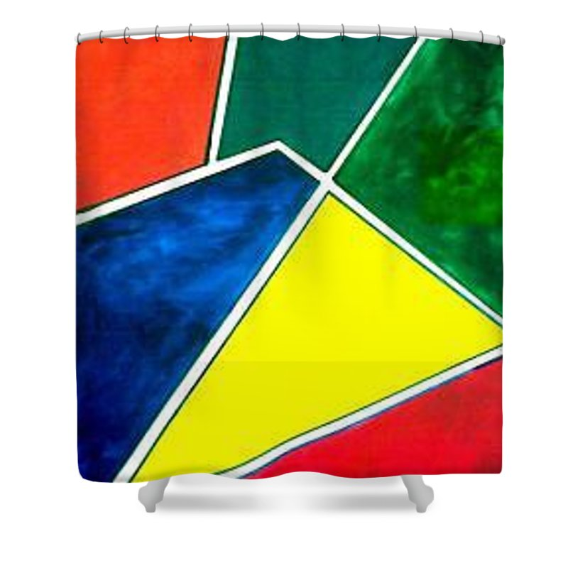 Primary And Sondary Colors Shower Curtain featuring the painting 99870 Colors by Andrew Johnson