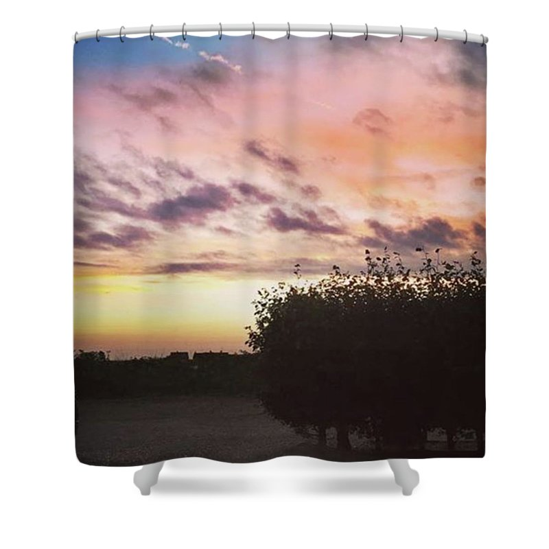 Norfolklife Shower Curtain featuring the photograph A Beautiful Morning Sky At 06:30 This by John Edwards