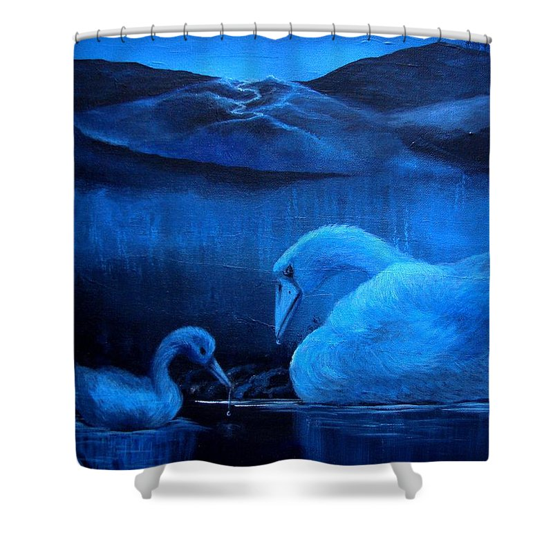 Shower Curtain featuring the painting A Beautiful Night by Glory Fraulein Wolfe