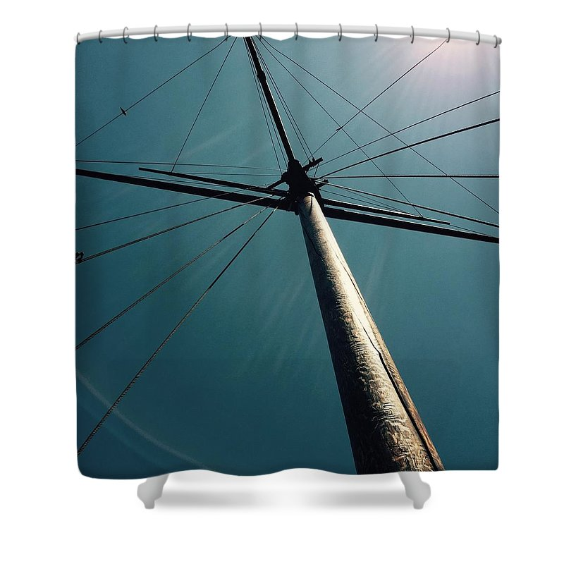 Boat Shower Curtain featuring the photograph A Boats Sail by Calloway