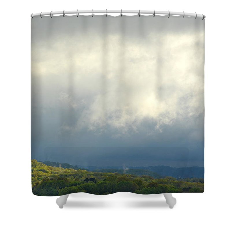 Storm Shower Curtain featuring the photograph A Break In The Storm by Ally White