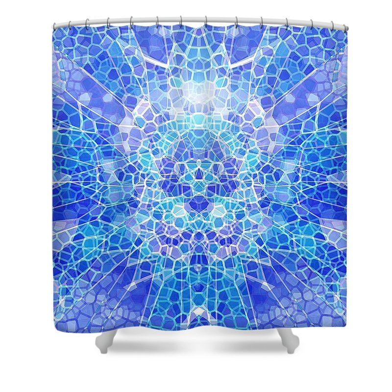 Abstract Shower Curtain featuring the digital art A Brilliant Mind by Mark Sellers