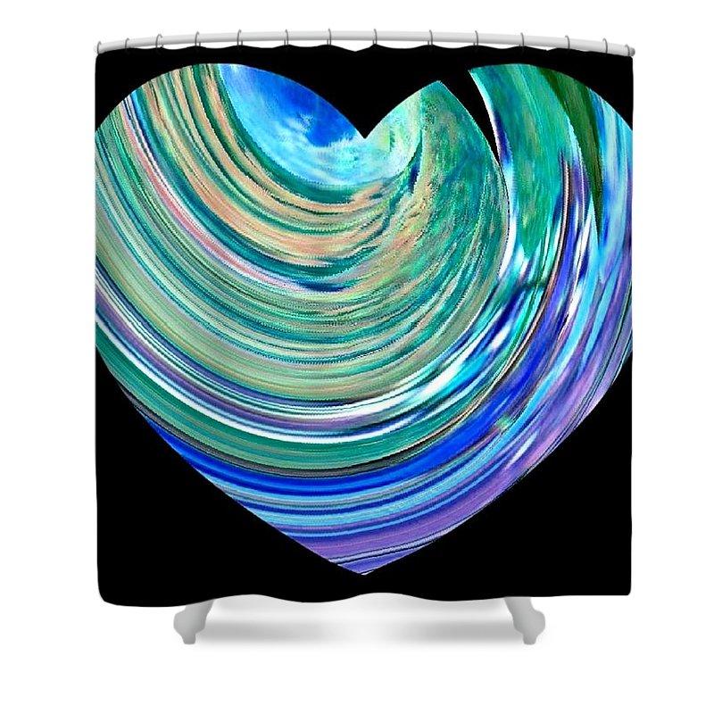 Broken Heart Shower Curtain featuring the digital art A Broken Heart by Will Borden