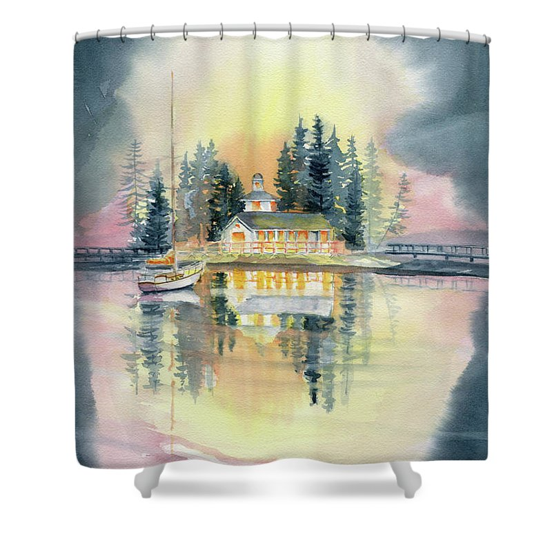 A Certain Light Shower Curtain featuring the painting A Certain Light by Melly Terpening
