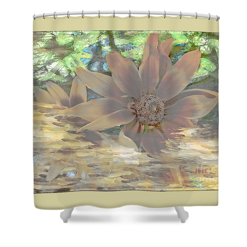 Floral Shower Curtain featuring the digital art A Christmas Dream By Beverly Guilliams by Beverly Guilliams