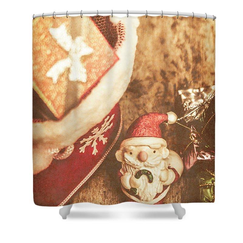 Santa Claus Photographs Shower Curtains
