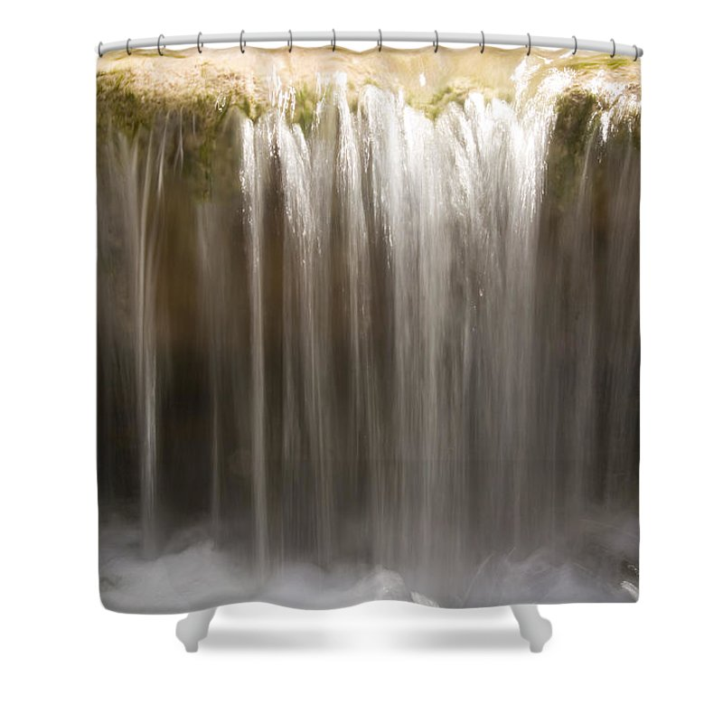 Havasu Canyon Shower Curtain featuring the photograph A Close View Of The Travartine Buildup by Taylor S. Kennedy