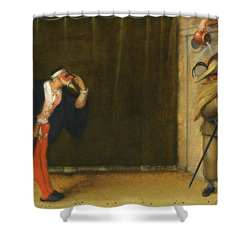 Extremement A Commedia Dell'arte Scene Depicting Pantalone And Brighella TA-54
