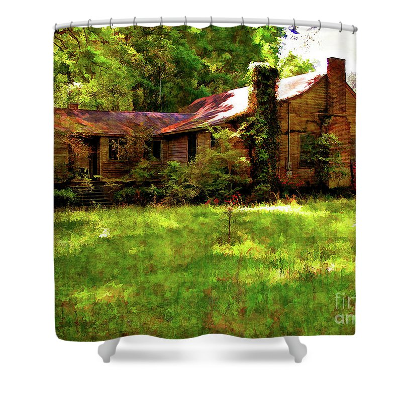 Old House Shower Curtain featuring the photograph A Country Place by Kathleen K Parker