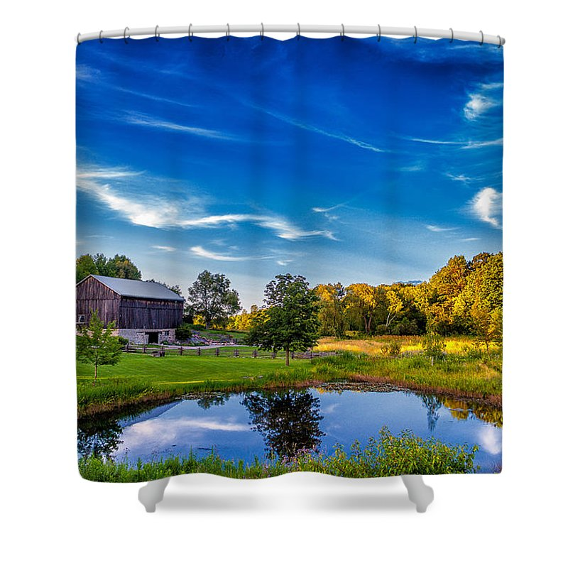 Pond Shower Curtain featuring the photograph A Country Place by Steve Harrington