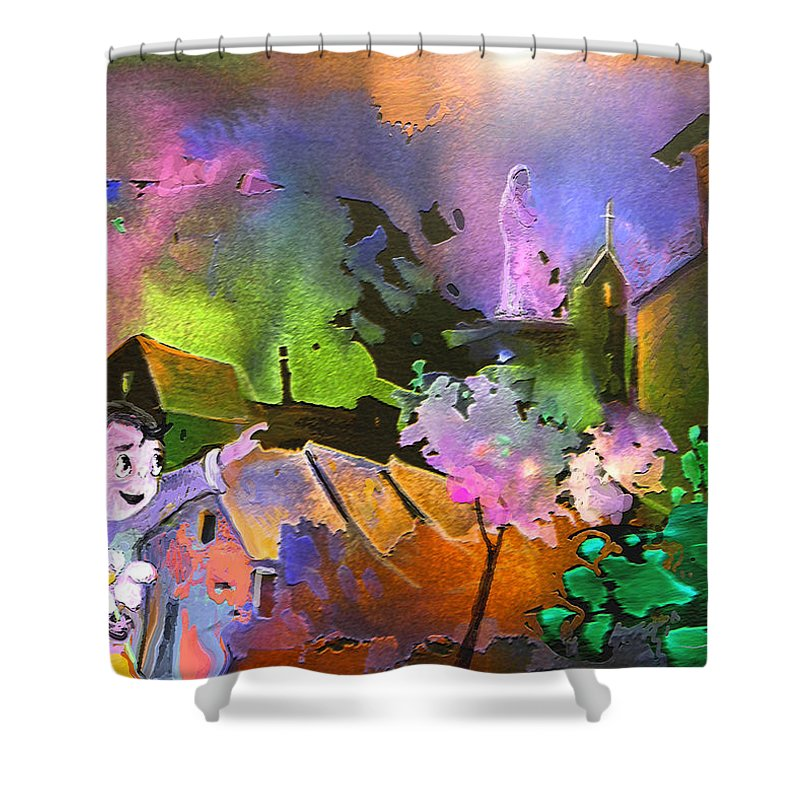 Dream Shower Curtain featuring the painting A Daisy For Mary by Miki De Goodaboom