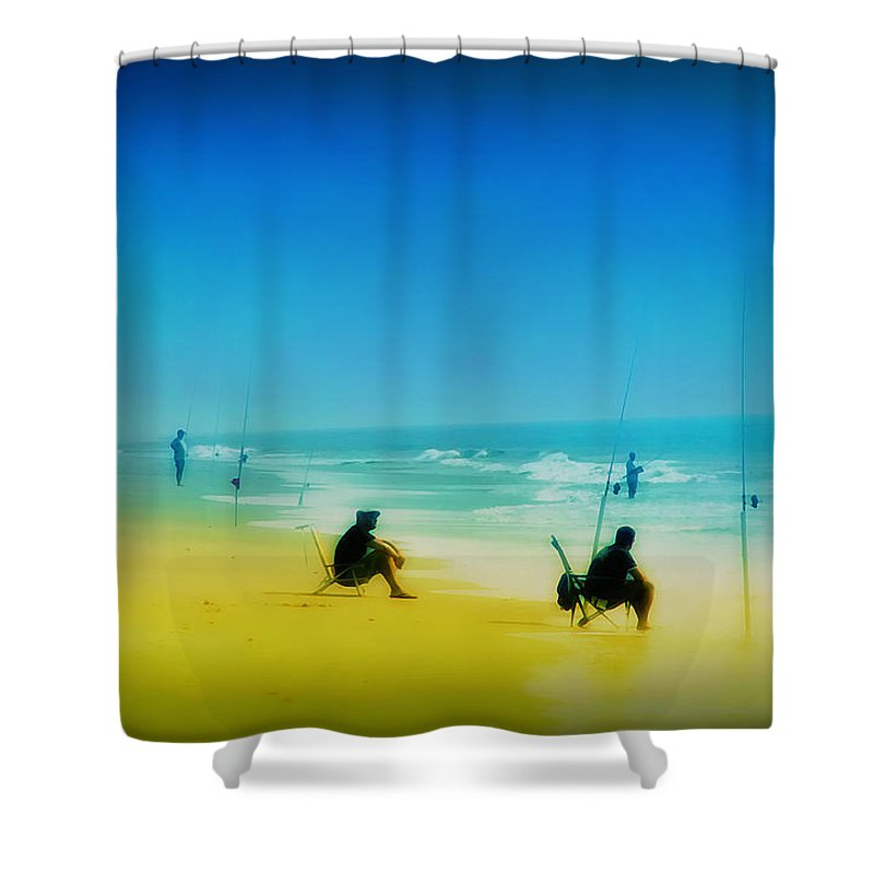 Beach Shower Curtain featuring the photograph A Day At The Beach by Bill Cannon