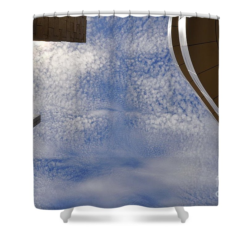 Clay Shower Curtain featuring the photograph A Day At The Getty by Clayton Bruster