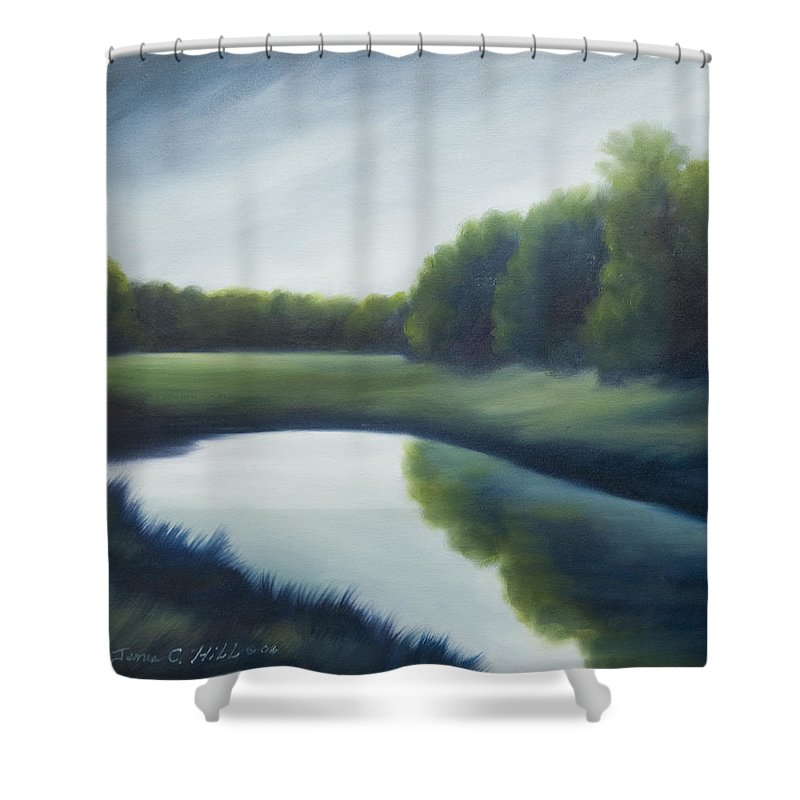 Clouds Shower Curtain featuring the painting A Day In The Life 2 by James Christopher Hill