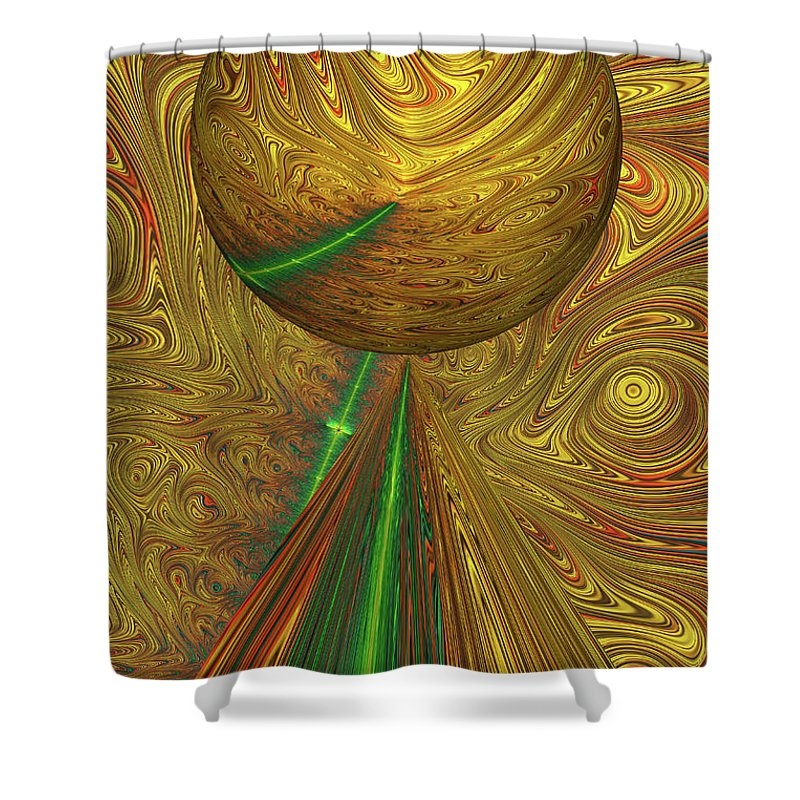 Fractal Shower Curtain featuring the photograph A Different Planet by Steve Purnell