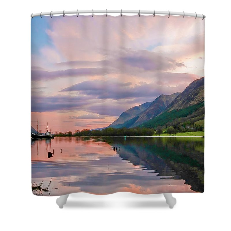 Scotland Shower Curtain featuring the photograph A Dreams Reflection by Martina Schneeberg-Chrisien