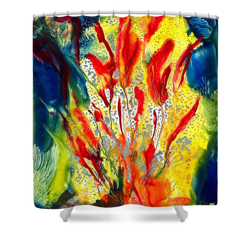 Healing Shower Curtain featuring the painting A Gateway To Americo Healing by Heather Hennick