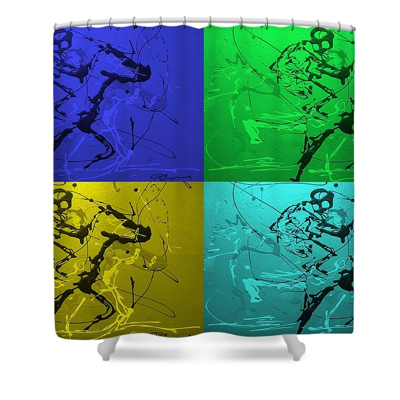 Horses Shower Curtain featuring the photograph A Great Day In Kentucky by J R Seymour